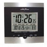 Seth Thomas By Colibri Weather Station Wall Clock with Time/Date/In-Out Temperature, Black