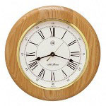 "Seth Thomas By Colibri Berkshire Wall Clock, Natural Oak Finish/Goldtone Bezel, 13"" Diameter"
