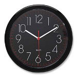 "Seth Thomas By Colibri 10"" Diameter Spectator Wall Clock, Black Case"