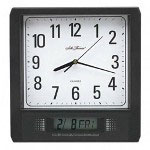Seth Thomas By Colibri Forman Analog/LCD Wall Clock, 11 5/8w x 2d x 12h, Black