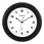 "Seth Thomas By Colibri 12"" Diameter Radio Controlled Howard Wall Clock, Black Case"