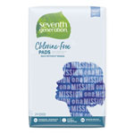 Seventh Generation Chlorine Free Maxi Pads, 24/Pack, 12 Packs/Carton