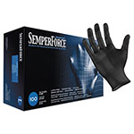 SemperGuard SemperForce Gloves, Black, Large, 1000/Carton