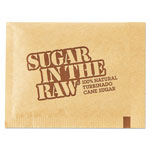 SugarIn The Raw Sugar Packets, Raw Sugar, 0.18 oz Packets, 500 per Carton