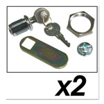 Rubbermaid Replacement Lock and Keys for Cleaning Carts, Silver