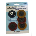 "SG Tool Aid 2"" Holding Pad with Four Surface Treatment Discs"