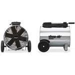 "Shop Vac Mobile Air Circulator, 14"" D, 30' Cord, Stainless Steel"