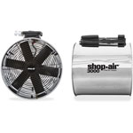 "Shop-Air Wall Mount Blower, 16"", Stainless Steel, 3-Speed, 1/2 HP Motor"