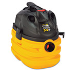 Shop Vac Heavy-Duty Portable Wet/Dry Vacuum, 5gal Capacity, 17lb, Black/Yellow