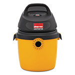 Shop Vac Portable Economy Wet/Dry Vacuum, 2.5 gal, 120V, 8A, 9lbs, Black/Yellow