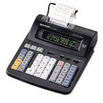 Sharp EL1192BL Two Color Printing Calculator, Twelve Digit, Margin, Tax, Item Count