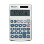 Sharp EL240SB Pocket Calculator, Battery/Solar, 8 Digit LCD Display