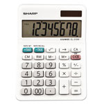 Sharp EL-310WB Mini Desktop Calculator, 8-Digit LCD