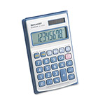 Sharp EL326SB Pocket/Handheld Calculator, Battery/Solar, 8 Digit Display