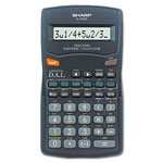 Sharp EL 500WBBK Fraction Calculator, Battery Operated, 10 Digit Display, Hard Case