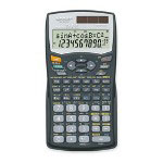 "Sharp EL506WBBK Scientific Calculator with Hardcover, 2 7/10""x5""x1/3"""