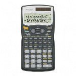 "Sharp EL520WBBK Scientific Calculator,Twelve Digit,419 Function,3 1/8""x6""x2/5"""