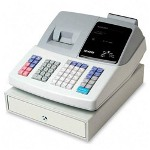 Sharp XE A201 Electronic Cash Register, 1200 Price Look Ups, White