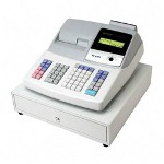 Sharp cash register, thermal, with water reistant keyboard, white