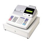 Sharp XE A404 Cash Register, Thermal Printing, Dual Roll Register Tape, 2 Line Display