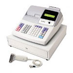 Sharp XE-A505 Cash Register, Thermal Printing, Dual Roll Register Tape, 2-line Display