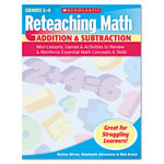 Scholastic Reteaching Math, Addition And Subtraction, Grades 2 To 4