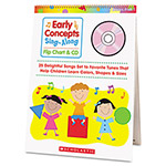 Scholastic Early Concepts Sing-Along Flip Chart w/CD, 26 Pages, Pre-K-1