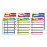 "Scholastic Daily Schedule Charts, 17 1/2"" x 23 1/2"""