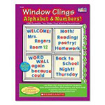 Scholastic Vinyl Window Cling Book, ABCs/Numbers