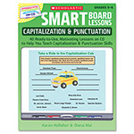 Scholastic Smart Board&Trade; Lessons With Cd, Grammar, Grades 3-6, 48 Pages