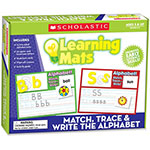 Scholastic Learning Mats, Math/Trace/Alphabet, 91 Pieces,