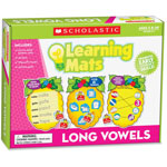 Scholastic Learning Mats Game, Long Vowels, 60Pcs, Multi