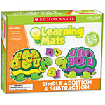 Scholastic Learning Mats Game, Addition/Subtraction, 72Pcs, Multi