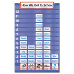 Scholastic Five-Column-Graph Pocket Chart, 79 Pockets, 20 x 30 3/4, Blue