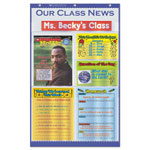 Scholastic Our Class News Pocket Chart, Newspaper Layout, 6 Pockets, 18 1/2 x 29 1/2, Blue