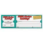 Scholastic Free Choice Activity Award Ticket, 8 1/2w x 2 3/4h, 100 2-Part Tickets/Pack