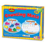 Scholastic Counting Mats Kit, 10 Two-Sided Mats, 60 Foam Fish And Crayons