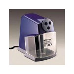 Hunt School Pro Electric Pencil Sharpener, Blue with Gray Accents