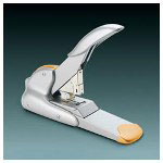 Hunt Duax Heavy Duty Metal Stapler for up to 170 Sheets, Metallic Silver/Orange Trim