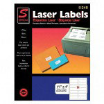 "Simon Marketing Laser Mailing Labels, 1 1/3""x4"", 1400, Bright White"