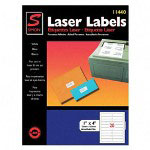 "Simon Marketing Laser Mailing Labels, 1""x4"", 2000, Bright White"