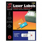 "Simon Marketing Laser Mailing Labels, 1""x2 5/8"", 7500, Bright White"