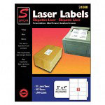 "Simon Marketing Laser Mailing Labels, 2""x4"", 1000, Bright White"