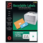"Simon Marketing Recyclable Labels, Shipping, 3-1/3"" x 4"", White"