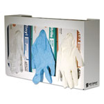 "San Jamar G0804 White Enamel Disposable Glove Dispenser for Three Boxes, 18"" w x 3 3/4"" d x 10"" h"