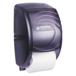 San Jamar Duett Toilet Tissue Dispenser, Transparent Black