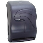 San Jamar Electronic Touchless Hard Roll Paper Towel Dispenser, Black