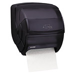 San Jamar Integra™ Lever Action Hard Roll Paper Towel Dispenser, Black