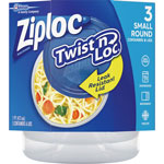 Ziploc® Twist-N-Loc Containers, 3/PK, Clear