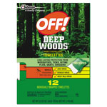 OFF! Deep Woods Towelette, 0.28 Box, Unscented, 12/Box